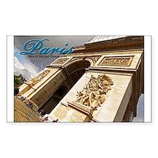 Paris L'arc De Triomphe Sticker (rectangle)