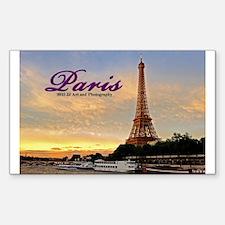 Paris Eiffel Tower Sunset Sticker (rectangle)
