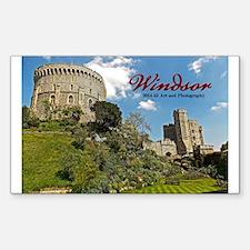 Windsor Castle Sticker (rectangle)