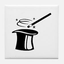 Magician top stick Tile Coaster