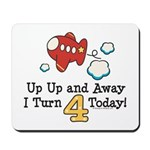 4th Birthday Airplane Mousepad