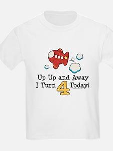 4th Birthday Airplane T-Shirt