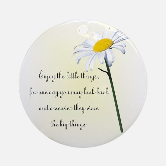 Little Things Daisy Ornament (Round)