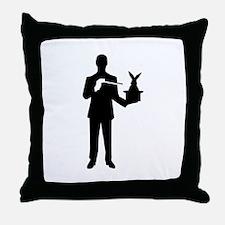 Magician bunny rabbit Throw Pillow