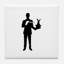 Magician bunny rabbit Tile Coaster