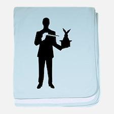 Magician bunny rabbit baby blanket