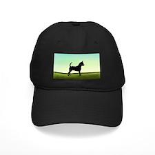Grassy Field Chihuahua Baseball Hat