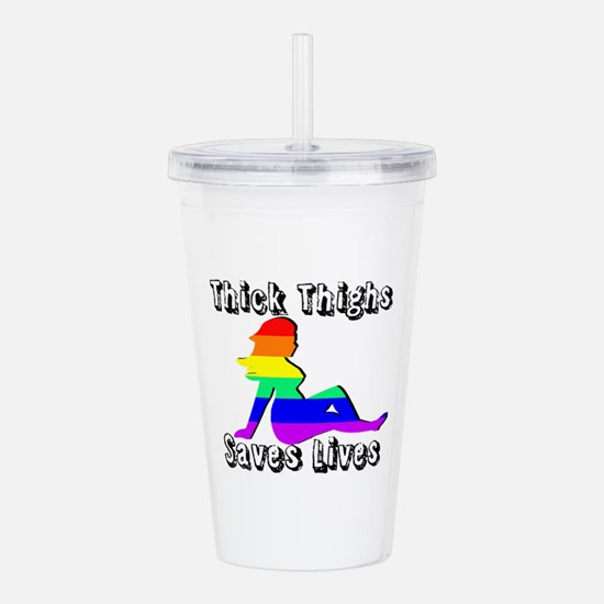 Thick Thighs Save Lives Gay Pride Acrylic Double-w