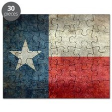 Texas state flag vintage retro style left b Puzzle