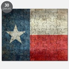 Texas state flag vintage retro style left b Puzzle