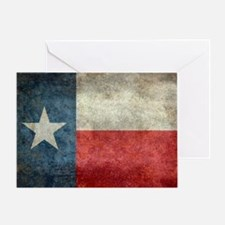 Texas state flag vintage retro style Greeting Card