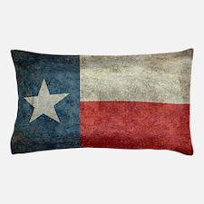 Texas state flag vintage retro style l Pillow Case