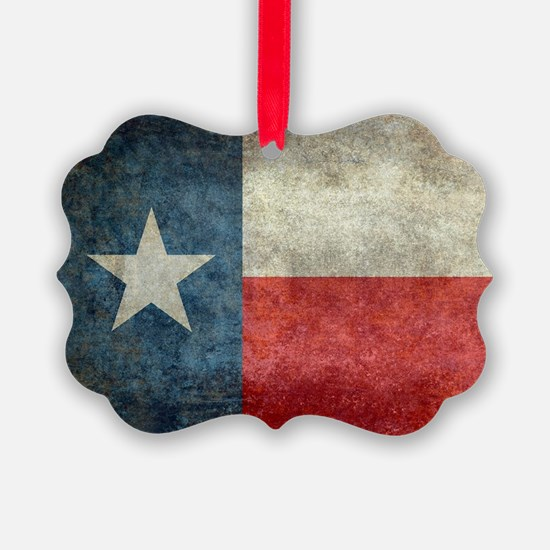 Texas state flag vintage retro st Ornament