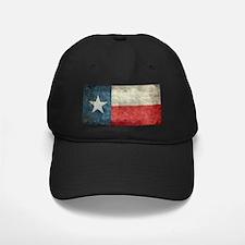 Texas state flag vintage retro style lef Baseball Hat