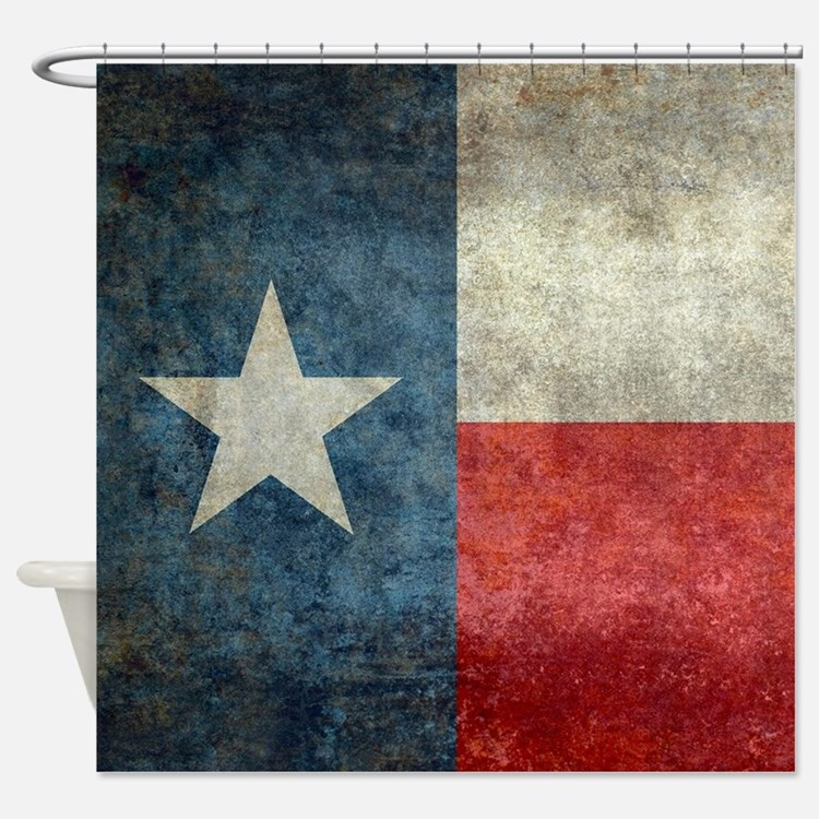 Texas state flag vintage retro styl Shower Curtain