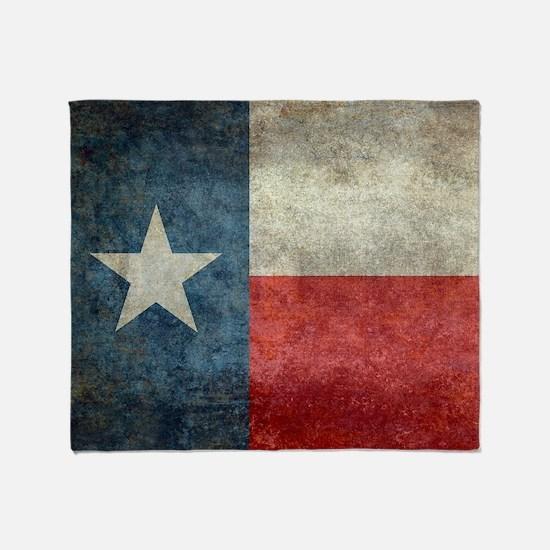 Texas state flag vintage retro style Throw Blanket