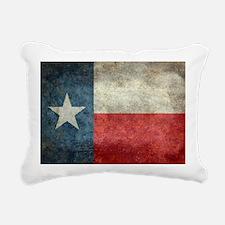 Texas state flag vintage Rectangular Canvas Pillow