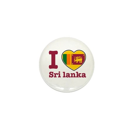 I love Sri Lanka Mini Button
