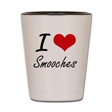 I love Smooches Shot Glass