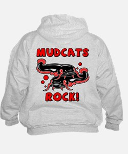 Mudcats Rock (front/back) Hoodie