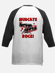 Mudcats Rock (front/back) Kids Baseball Jersey