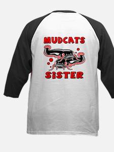 Mudcats Sister (front/back) Kids Baseball Jersey