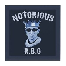 Notorious RBG III Tile Coaster