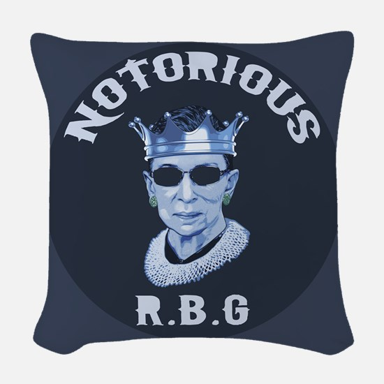 Notorious RBG III Woven Throw Pillow
