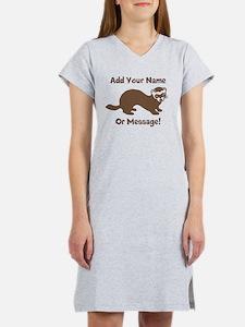 PERSONALIZED Ferret Graphic Women's Nightshirt