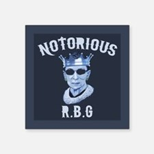 "Notorious RBG III Square Sticker 3"" x 3"""