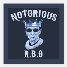 """Notorious RBG III Square Car Magnet 3"""" x 3"""""""