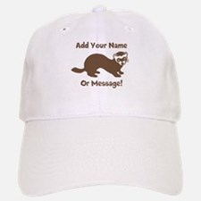 PERSONALIZED Ferret Graphic Baseball Cap