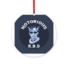 Notorious RBG III Round Ornament