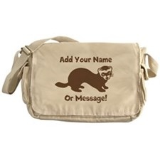 PERSONALIZED Ferret Graphic Messenger Bag