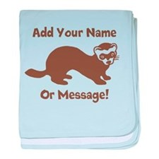PERSONALIZED Ferret Graphic baby blanket