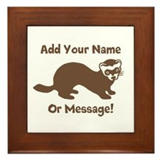 PERSONALIZED Ferret Graphic Framed Tile