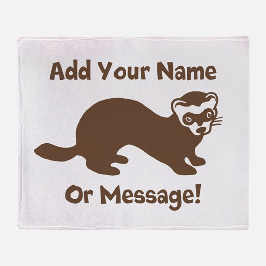 PERSONALIZED Ferret Graphic Throw Blanket