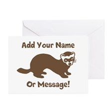 PERSONALIZED Ferret Grap Greeting Cards (Pk of 10)