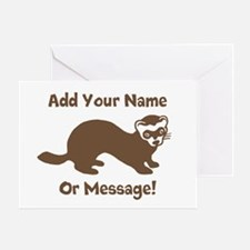 PERSONALIZED Ferret Graphic Greeting Card