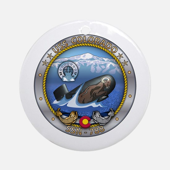 USS Washington SSN-787 Round Ornament