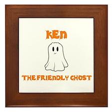 Ken the Friendly Ghost Framed Tile