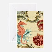 romantic seashells shabby chic Greeting Cards