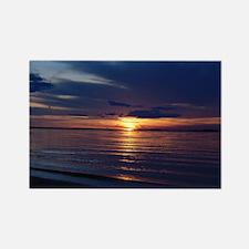 Millway Beach Sunset Rectangle Magnet