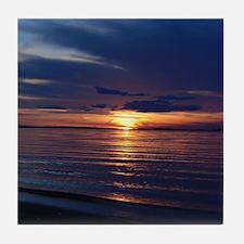 Millway Beach Sunset Tile Coaster