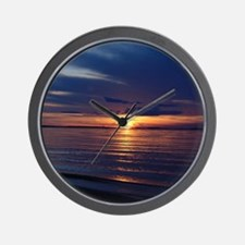 Millway Beach Sunset Wall Clock