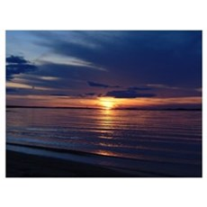 Millway Beach Sunset Canvas Art