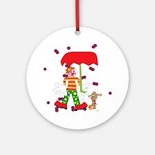 Clown Round Ornament