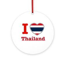 I love Thailand Ornament (Round)