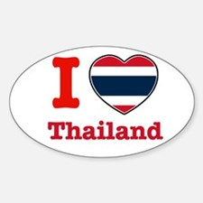 I love Thailand Oval Decal