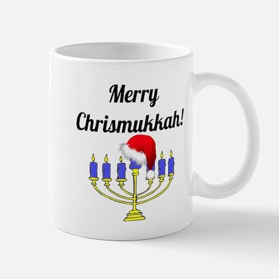 Merry Chrismukkah Menorah Small Mugs